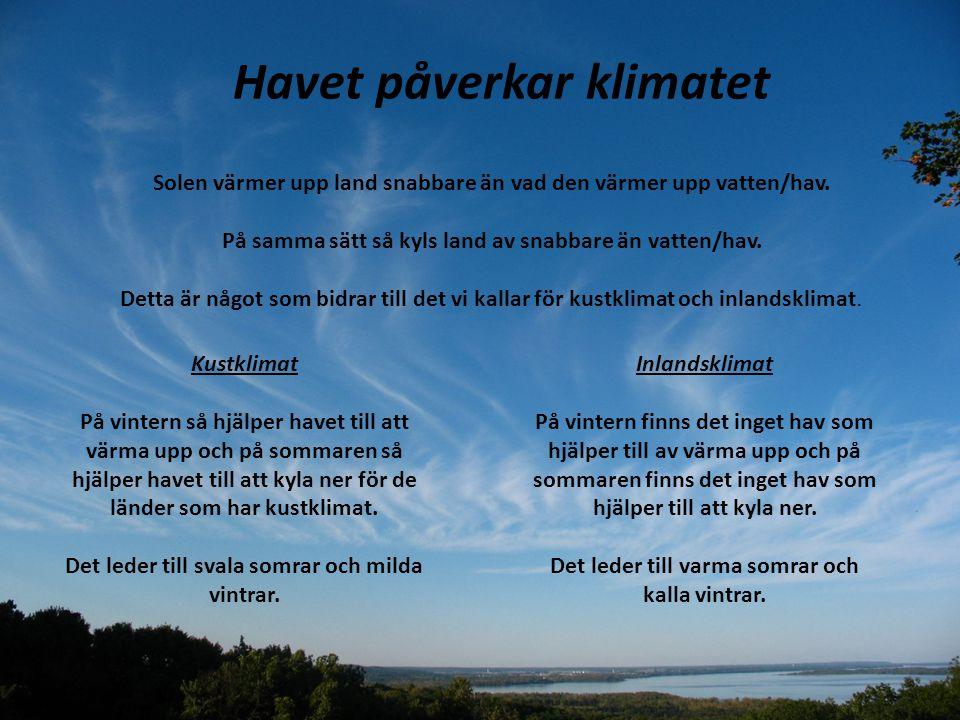 Havet påverkar klimatet