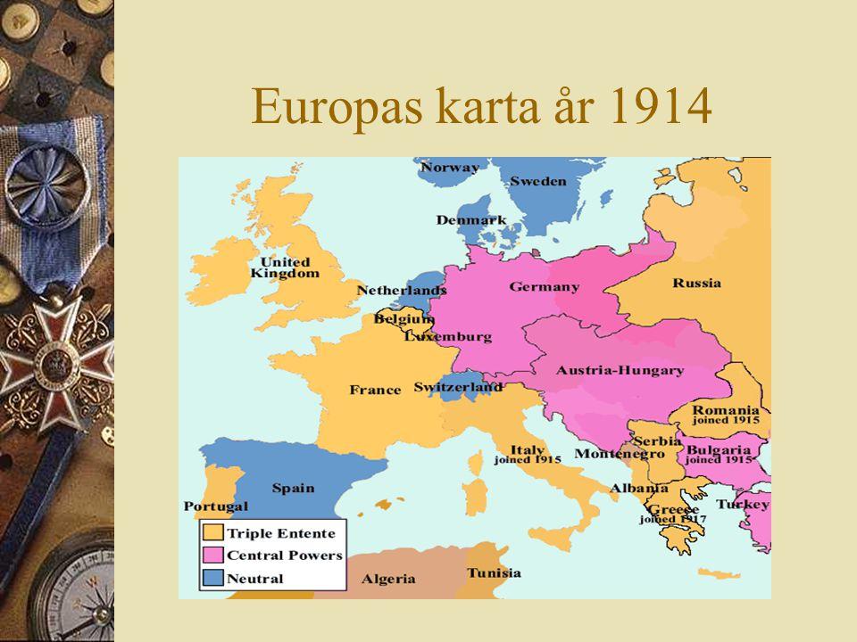 Europas karta år 1914.