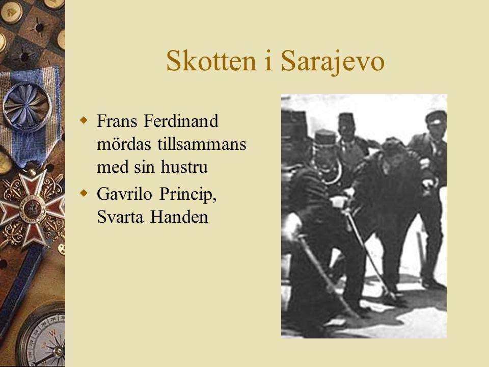 Skotten i Sarajevo Frans Ferdinand mördas tillsammans med sin hustru