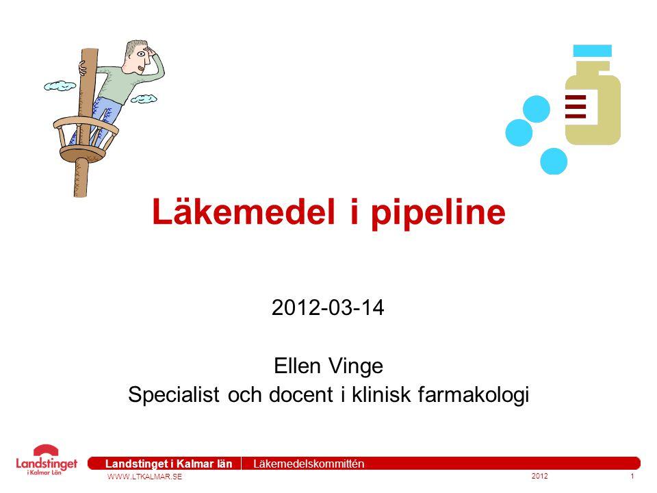 2012-03-14 Ellen Vinge Specialist och docent i klinisk farmakologi
