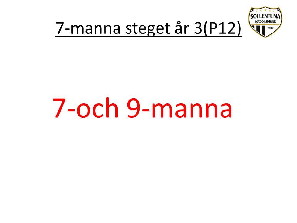 7-manna steget år 3(P12) 7-och 9-manna