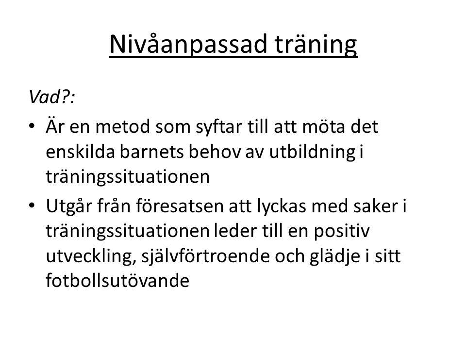 Nivåanpassad träning Vad :