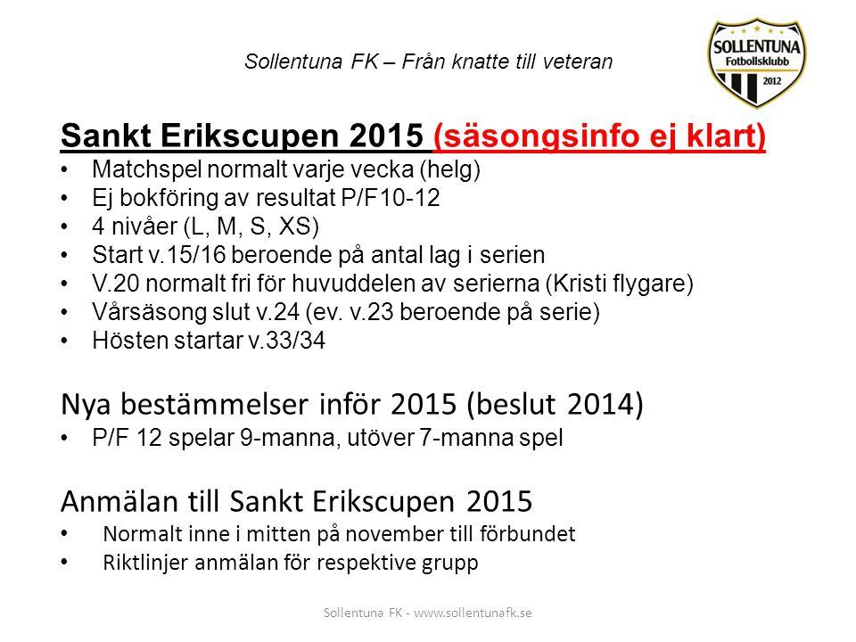 Sankt Erikscupen 2015 (säsongsinfo ej klart)