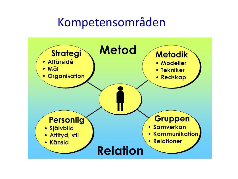 Kompetensområden Metod Relation Strategi Metodik Personlig Gruppen