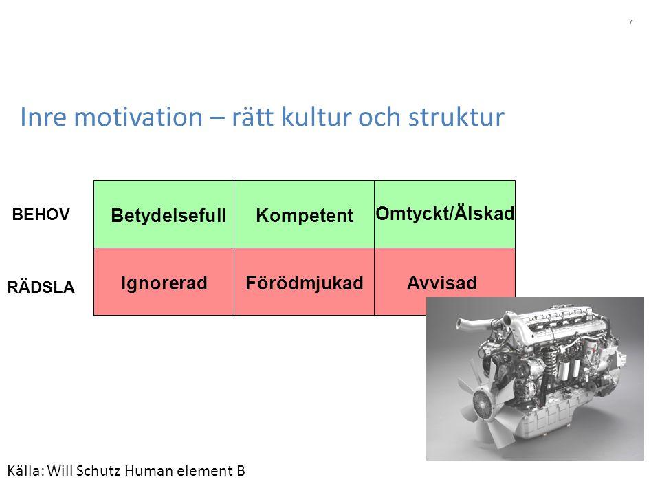 Inre motivation – rätt kultur och struktur