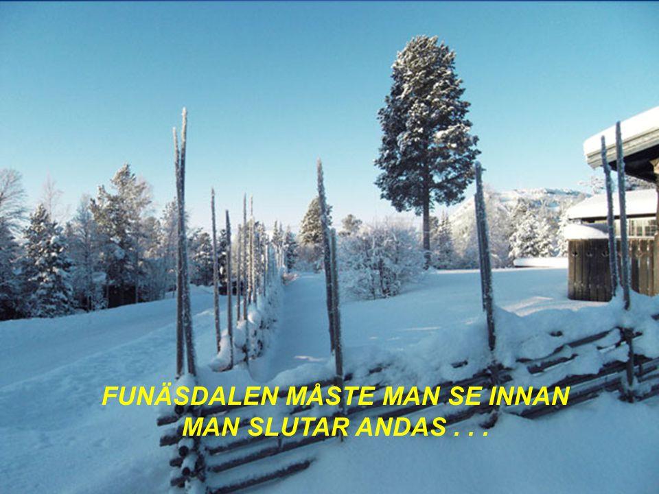 FUNÄSDALEN MÅSTE MAN SE INNAN