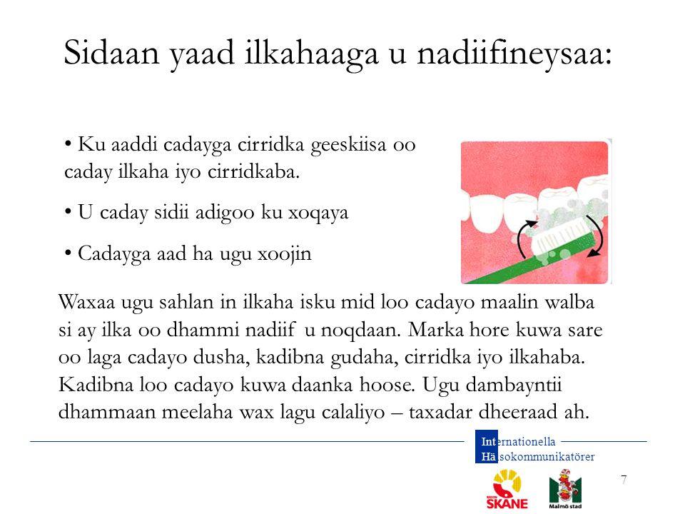 Sidaan yaad ilkahaaga u nadiifineysaa:
