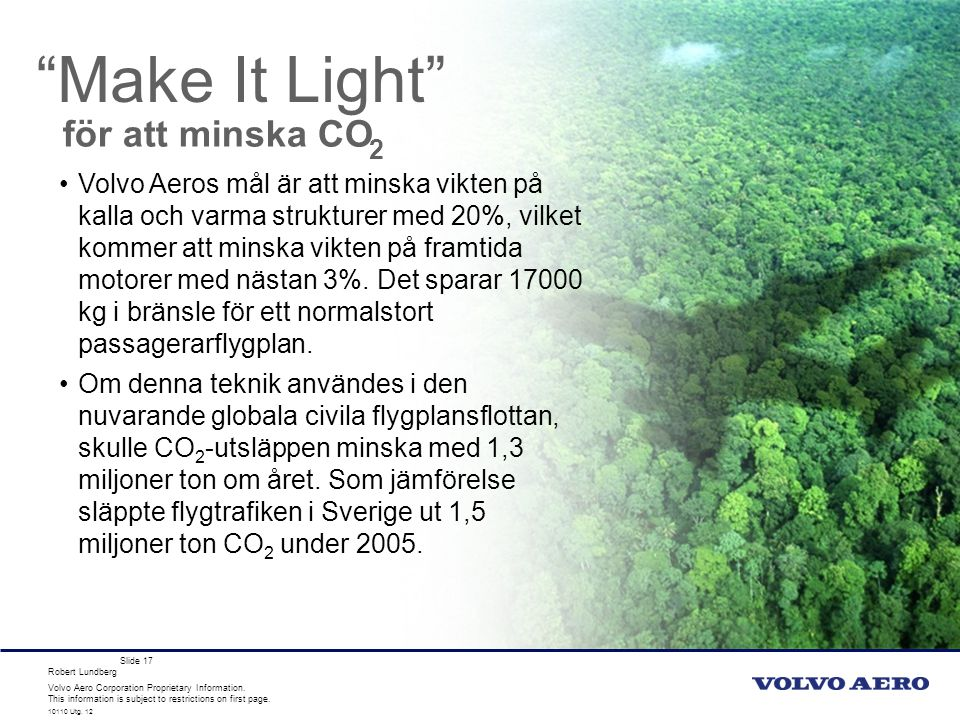 Make It Light för att minska CO 2