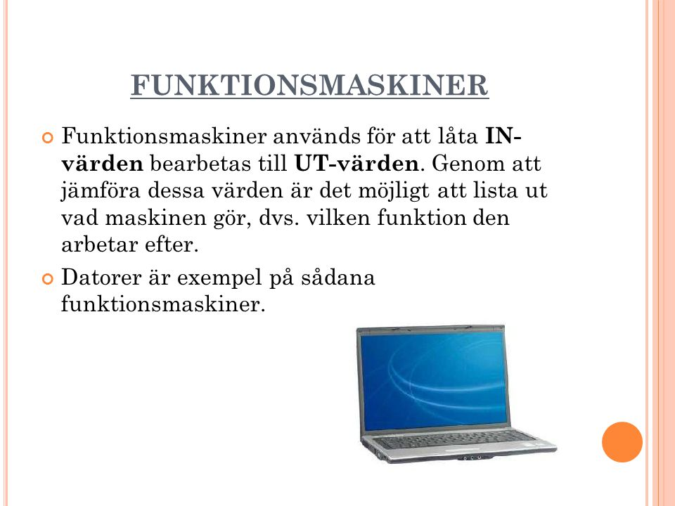 FUNKTIONSMASKINER