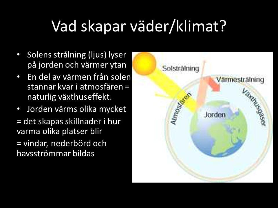 Vad skapar väder/klimat