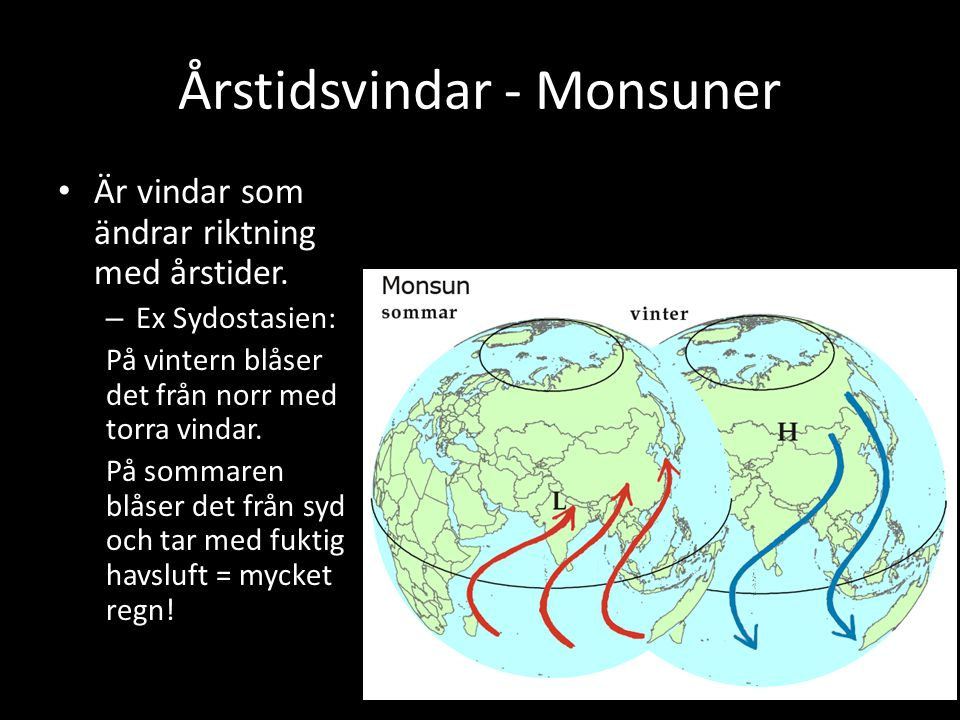 Årstidsvindar - Monsuner