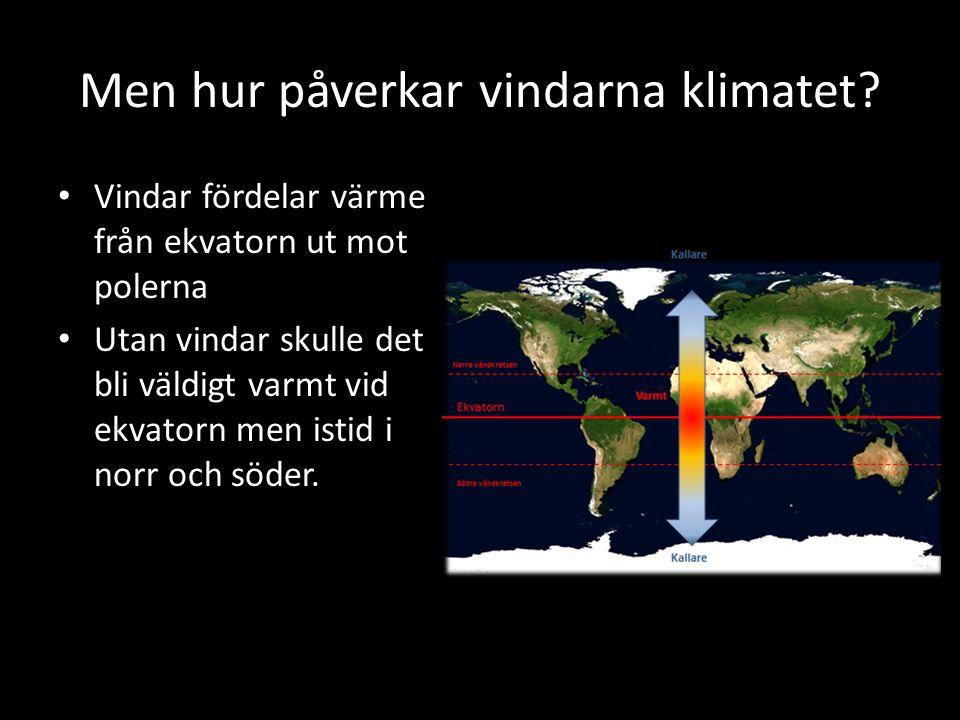 Men hur påverkar vindarna klimatet