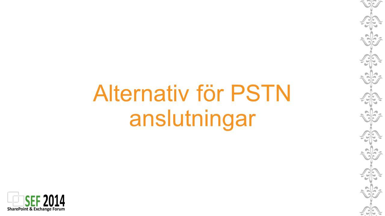 Alternativ för PSTN anslutningar