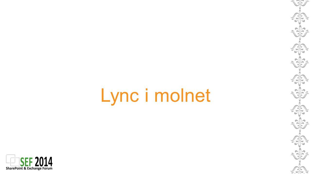 Lync i molnet Lync hemma eller I molnet