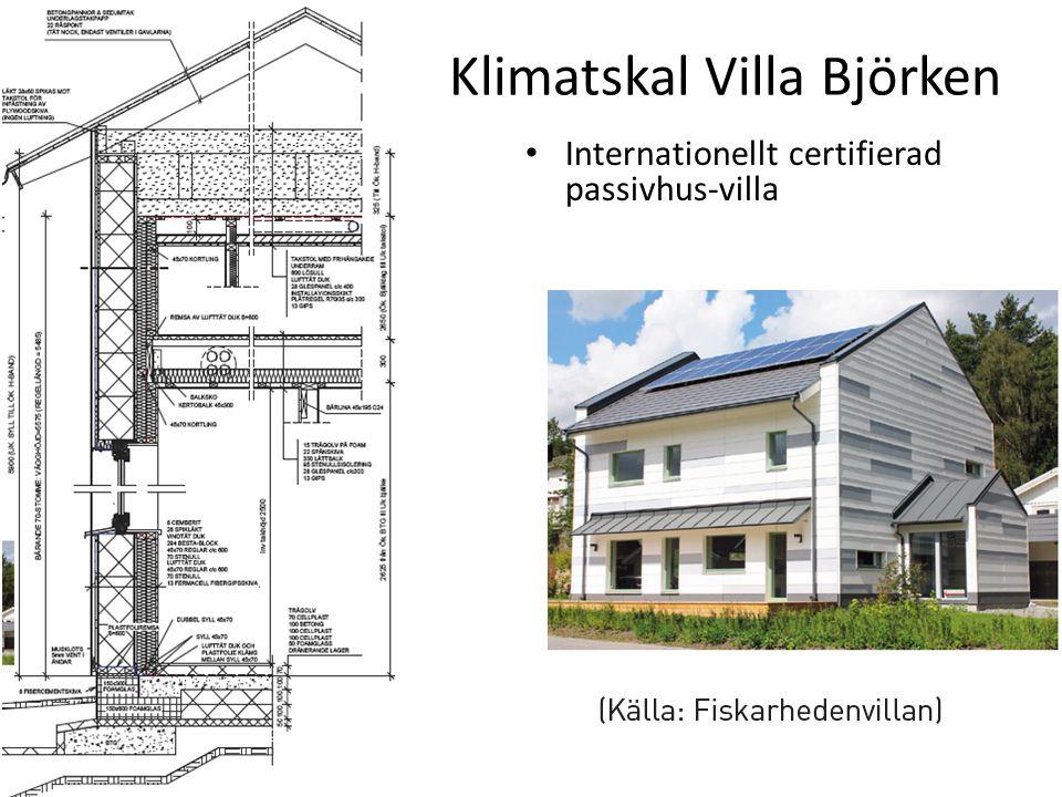 Klimatskal Villa Björken