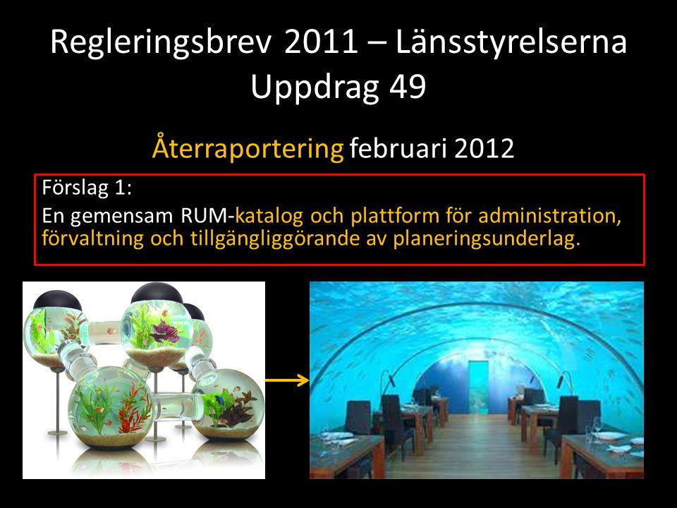 Regleringsbrev 2011 – Länsstyrelserna Uppdrag 49