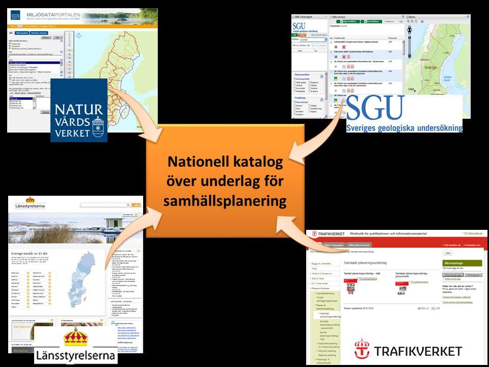 Nationell katalog över underlag för samhällsplanering
