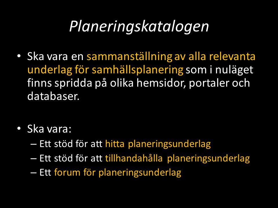 Planeringskatalogen