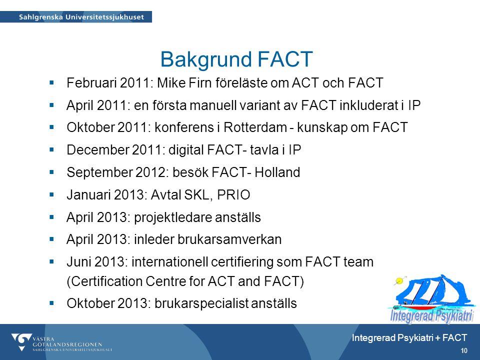 Bakgrund FACT Februari 2011: Mike Firn föreläste om ACT och FACT