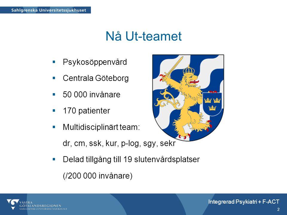 Nå Ut-teamet Psykosöppenvård Centrala Göteborg 50 000 invånare