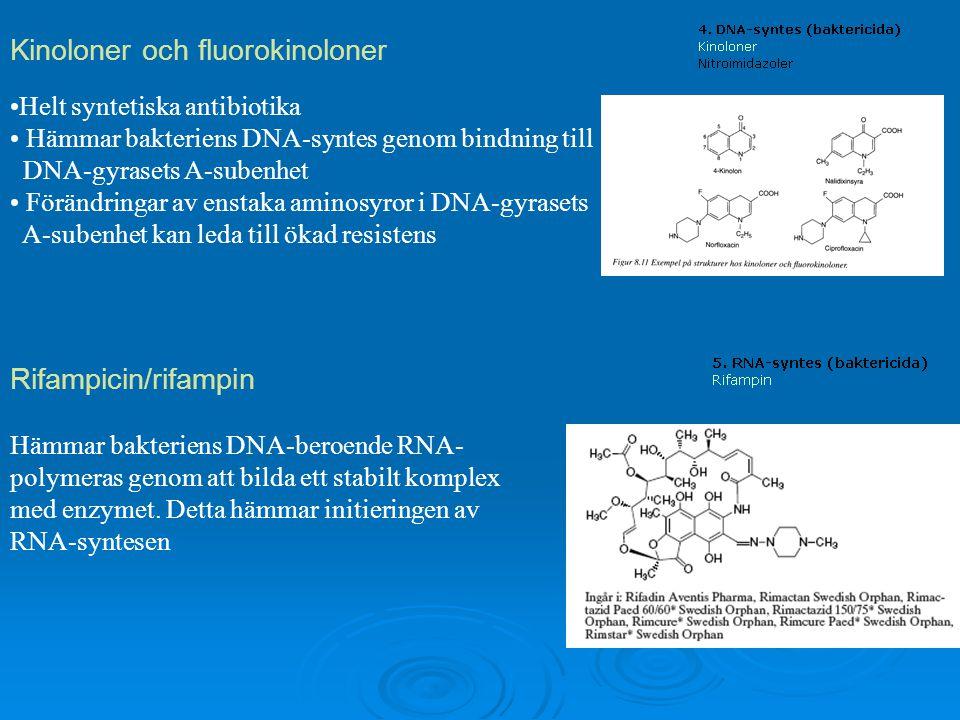 Kinoloner och fluorokinoloner