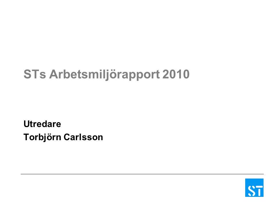STs Arbetsmiljörapport 2010