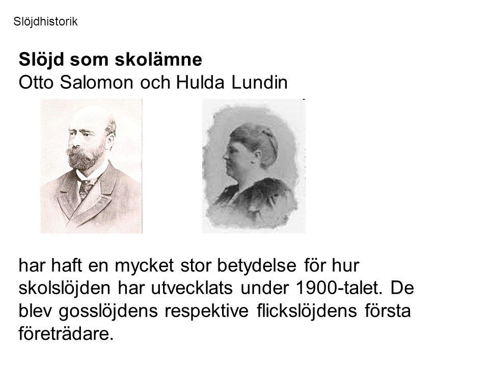 Otto Salomon och Hulda Lundin