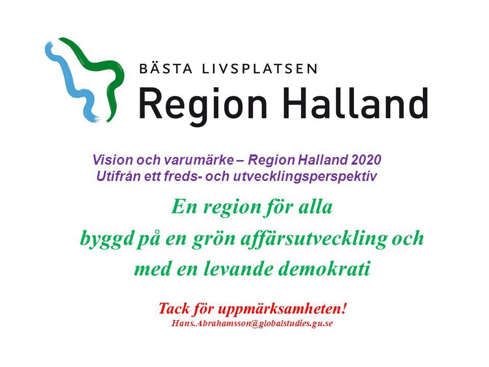 Vision och varumärke – Region Halland 2020
