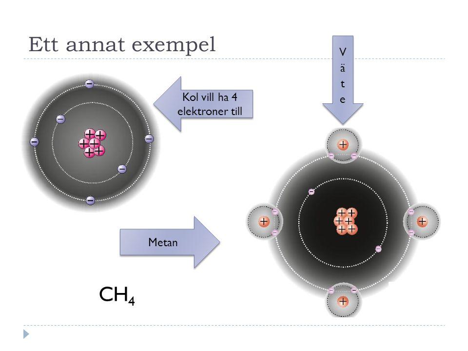 Kol vill ha 4 elektroner till