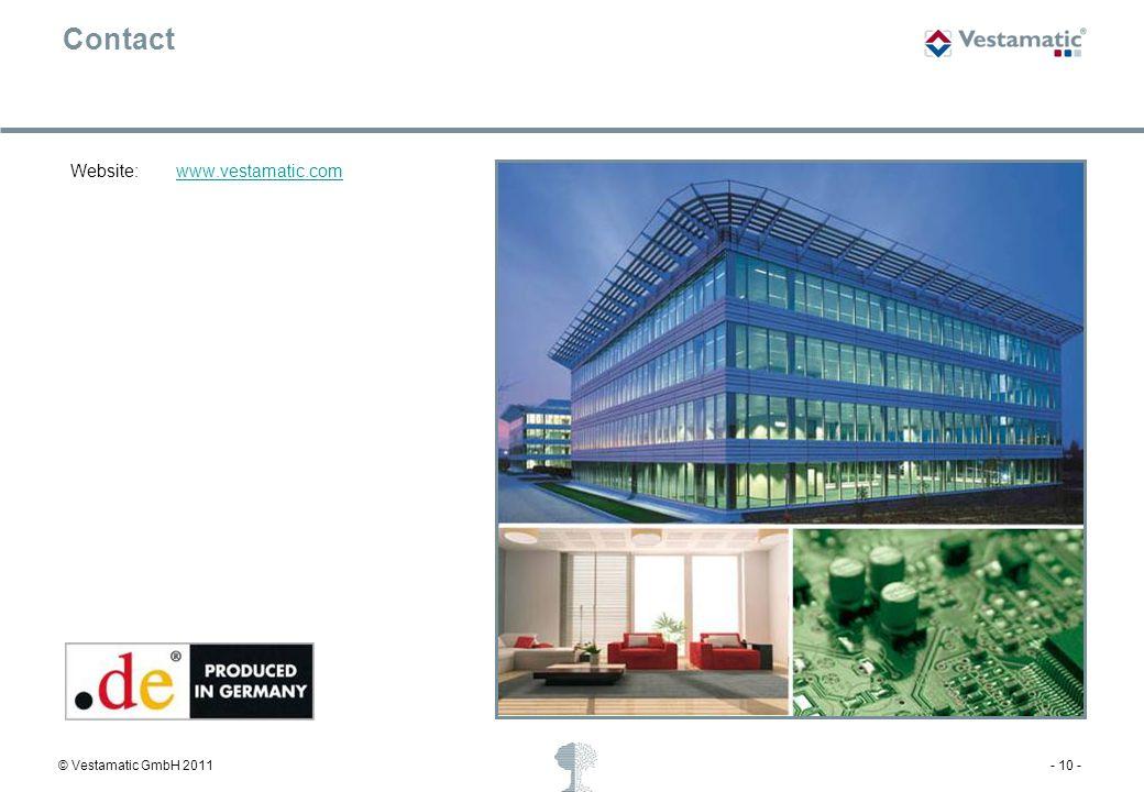 Contact Website: www.vestamatic.com