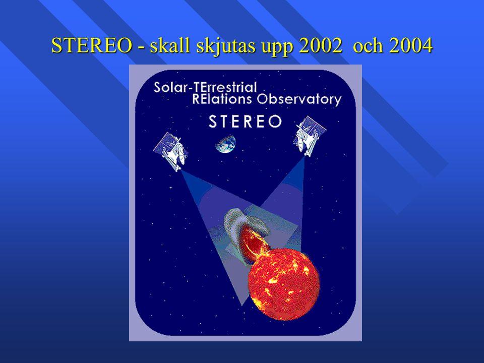 STEREO - skall skjutas upp 2002 och 2004