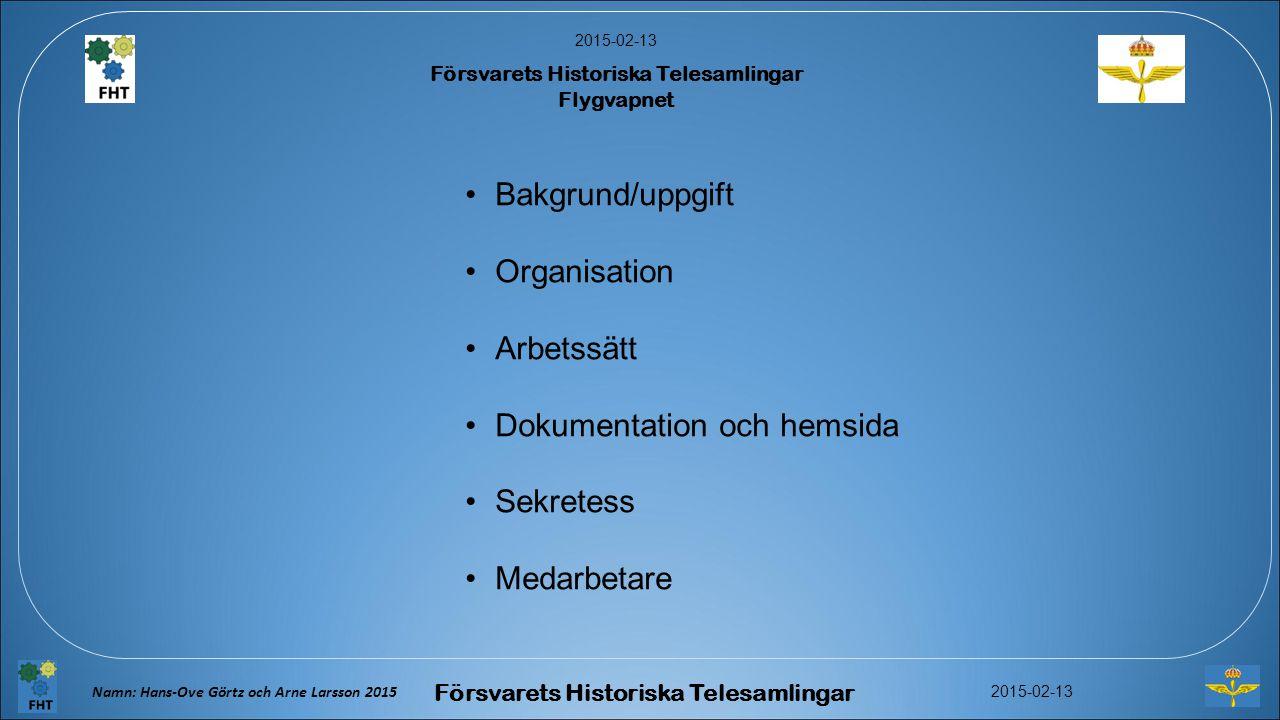 Dokumentation och hemsida Sekretess Medarbetare