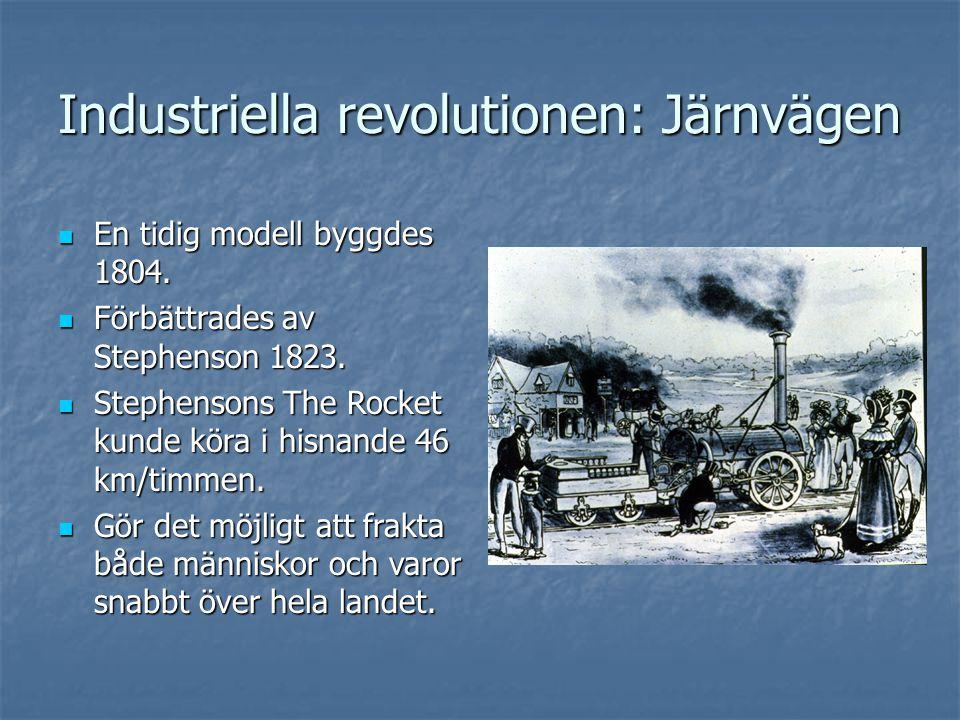Industriella revolutionen: Järnvägen