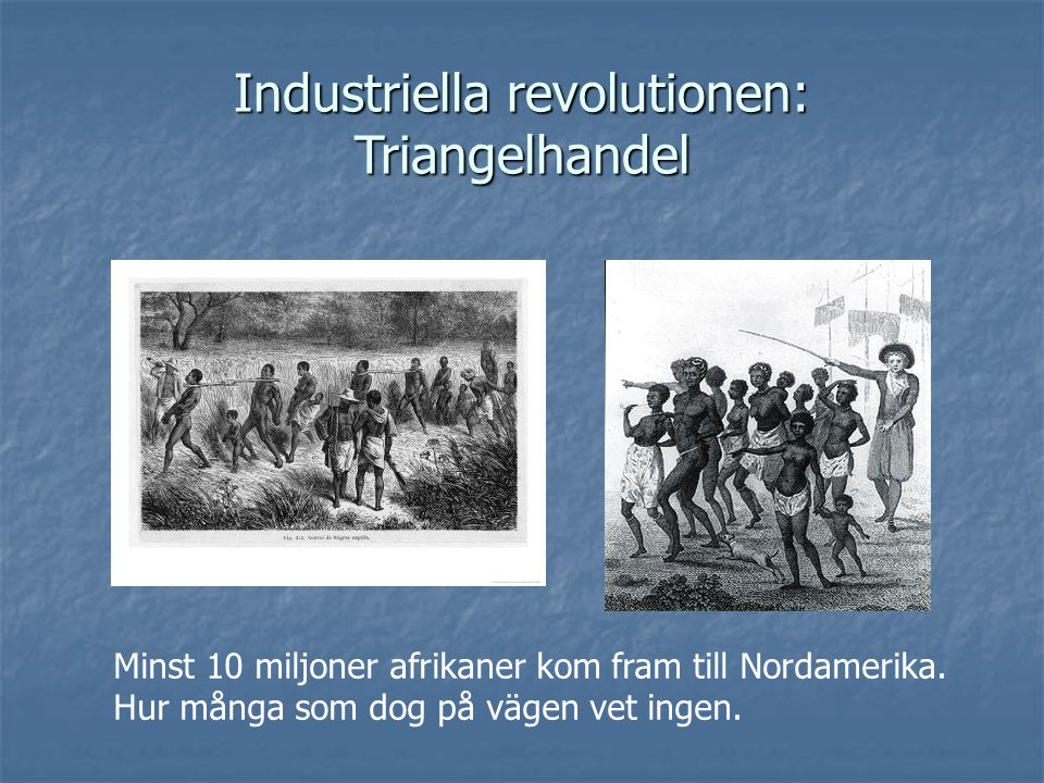 Industriella revolutionen: Triangelhandel