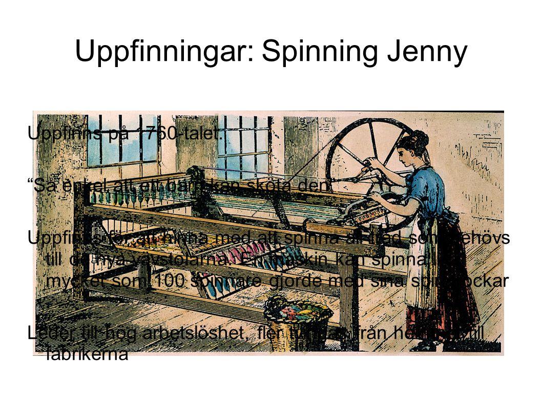 Uppfinningar: Spinning Jenny