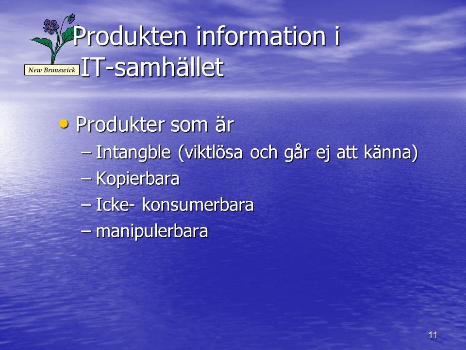 Produkten information i IT-samhället