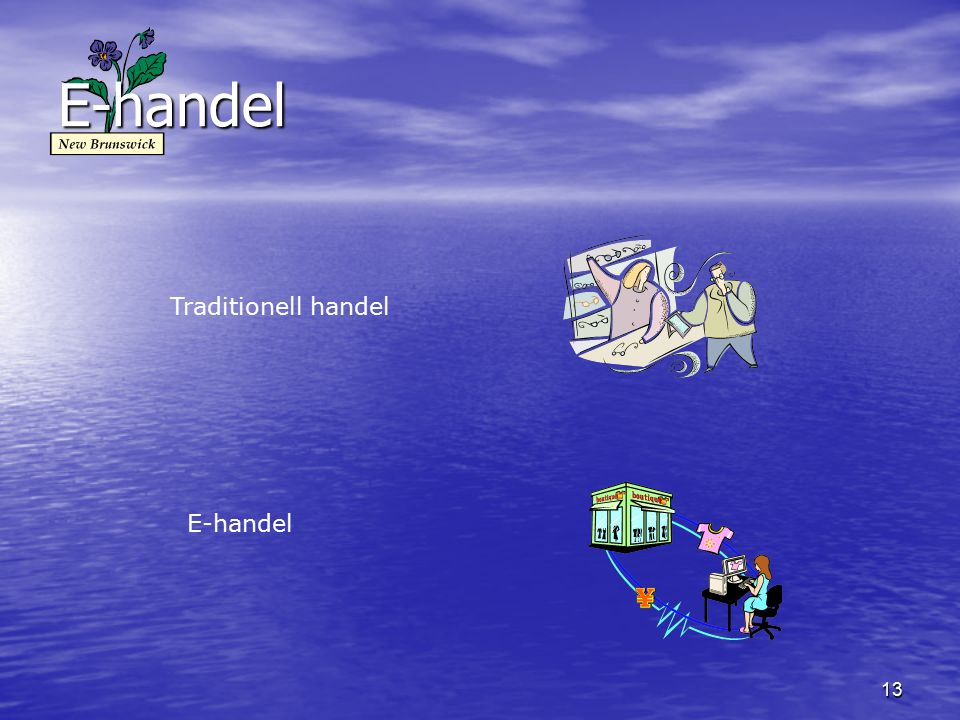 E-handel Traditionell handel E-handel
