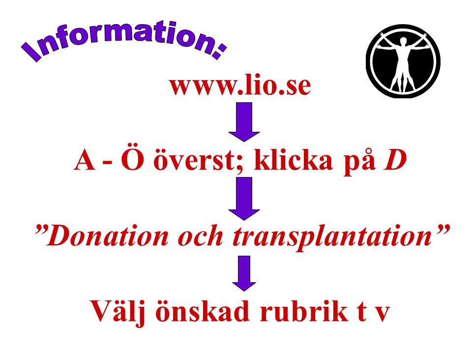 Donation och transplantation