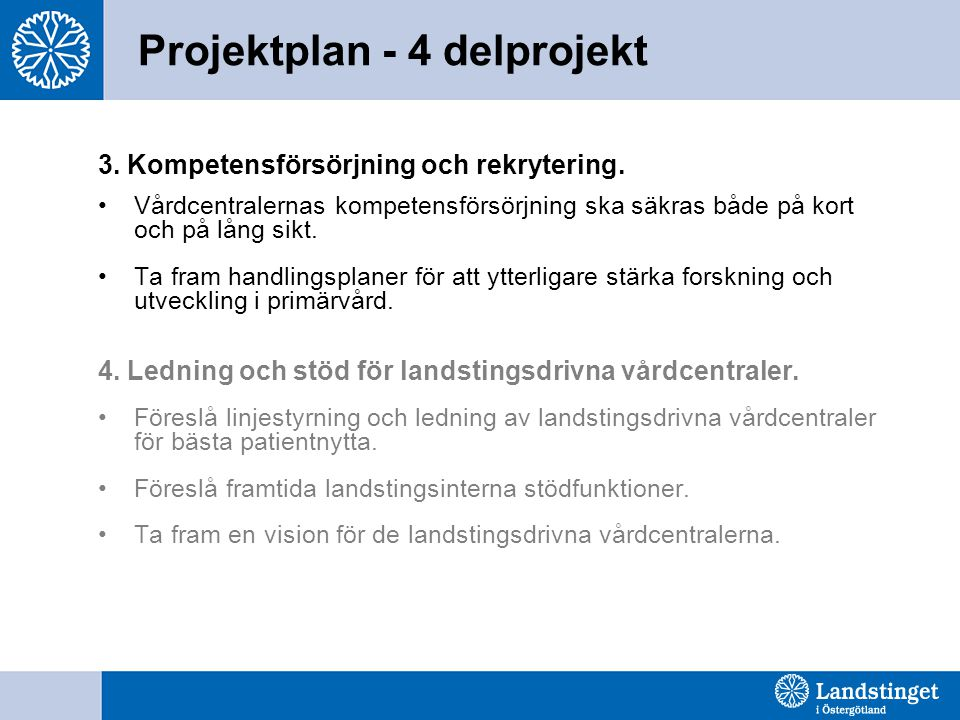 Projektplan - 4 delprojekt