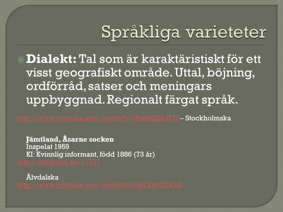 Språkliga varieteter