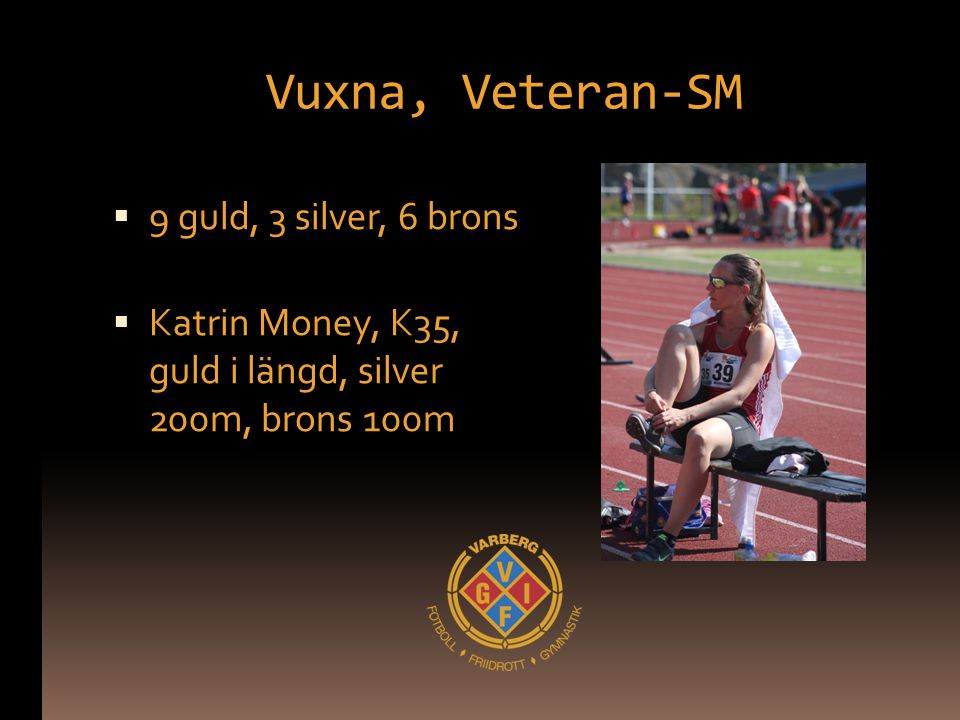 Vuxna, Veteran-SM 9 guld, 3 silver, 6 brons