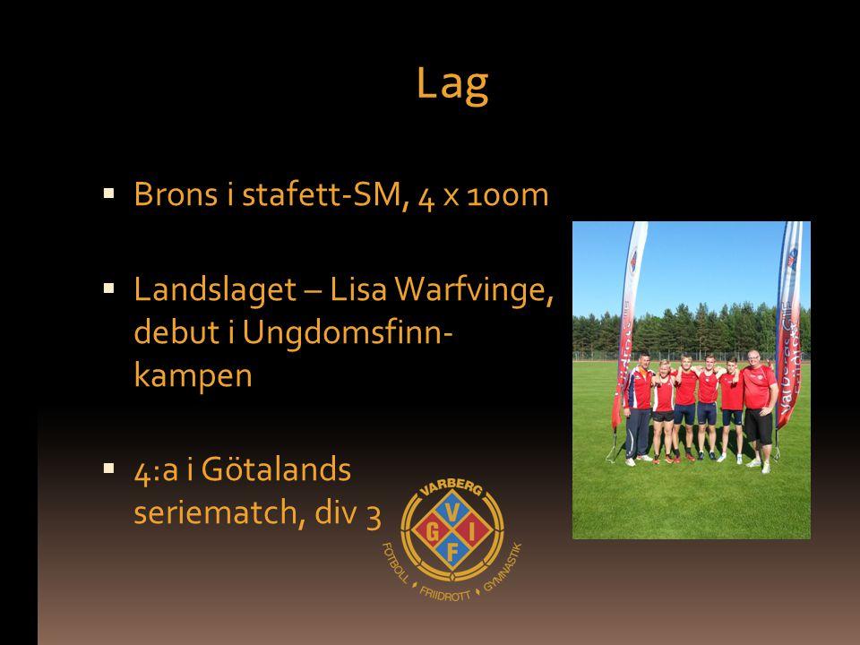 Lag Brons i stafett-SM, 4 x 100m