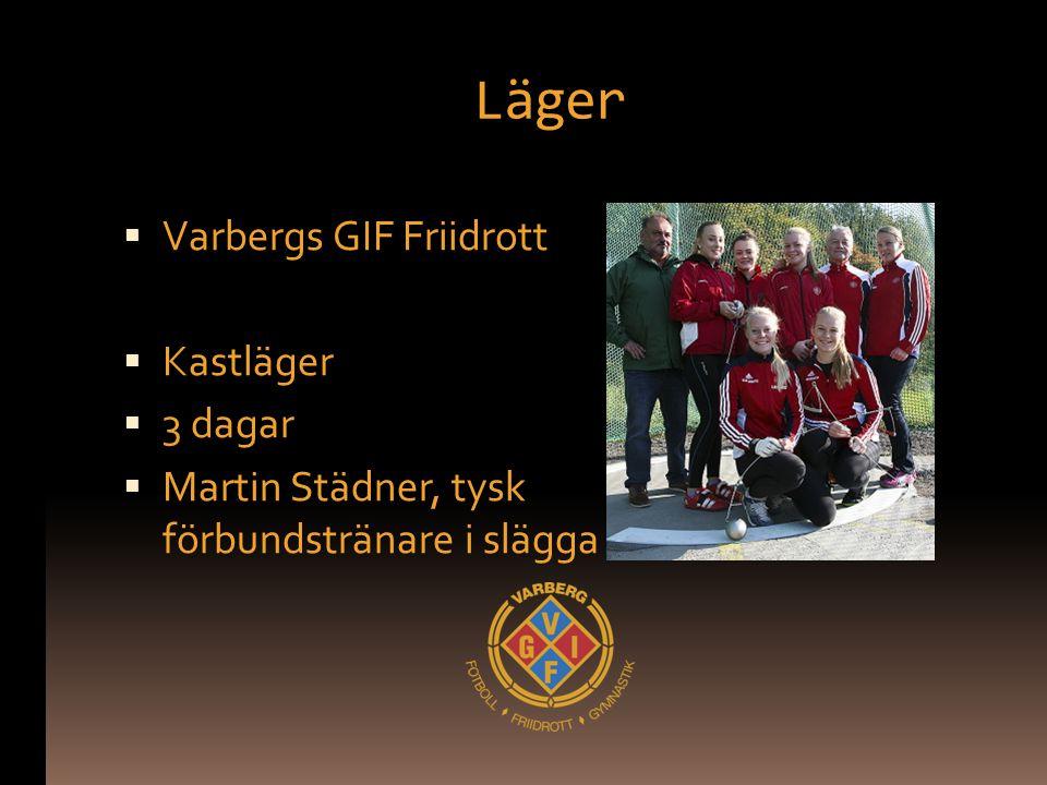 Läger Varbergs GIF Friidrott Kastläger 3 dagar