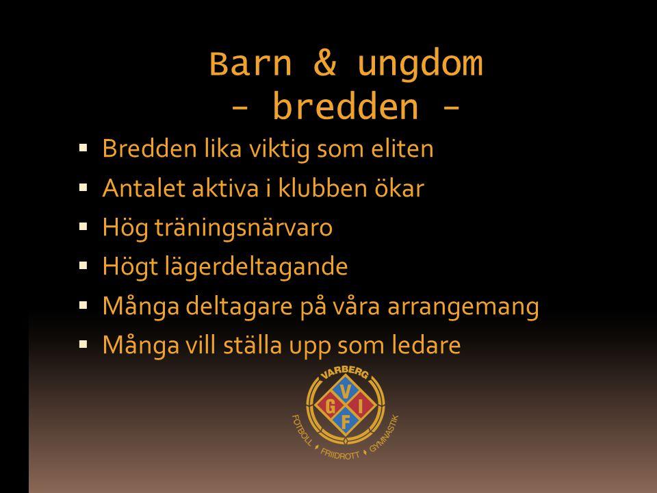 Barn & ungdom - bredden -