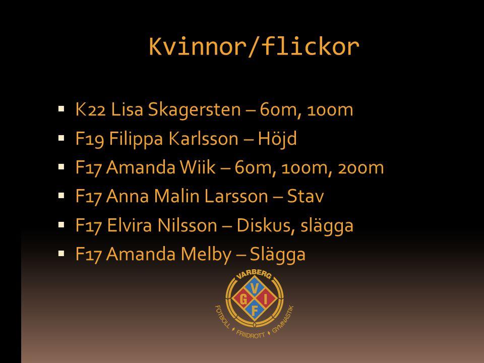 Kvinnor/flickor K22 Lisa Skagersten – 60m, 100m