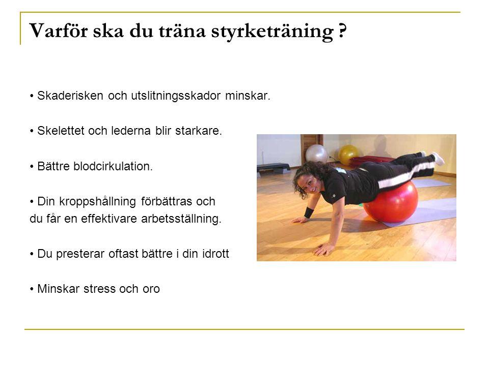 Varför ska du träna styrketräning