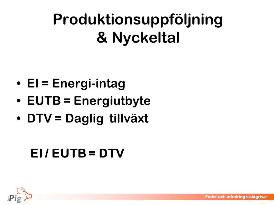 Produktionsuppföljning & Nyckeltal