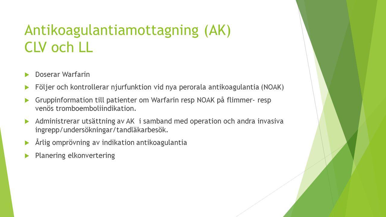 Antikoagulantiamottagning (AK) CLV och LL