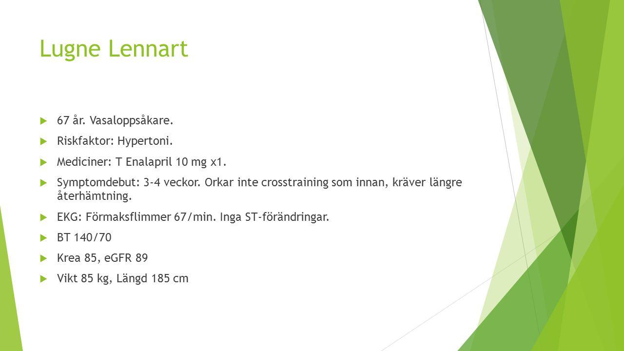 Lugne Lennart 67 år. Vasaloppsåkare. Riskfaktor: Hypertoni.