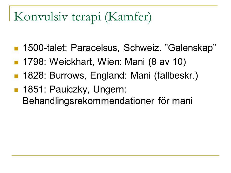 Konvulsiv terapi (Kamfer)